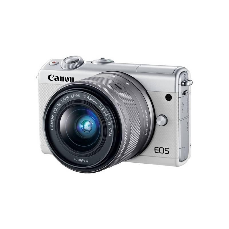 Digitálny fotoaparát Canon EOS M100 + EF-M 15-45mm IS STM (2210C093) biely + Doprava zadarmo