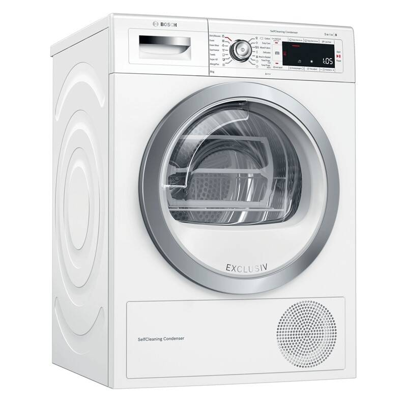 Sušička bielizne Bosch Serie | 8 WTW85590BY biela + SPÄTNÝ BONUS 60 € + Doprava zadarmo