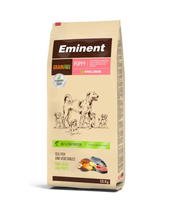 Granuly Eminent Grain Free Puppy 33/17 12kg Pochúťka Eminent Collagen Strips 60g