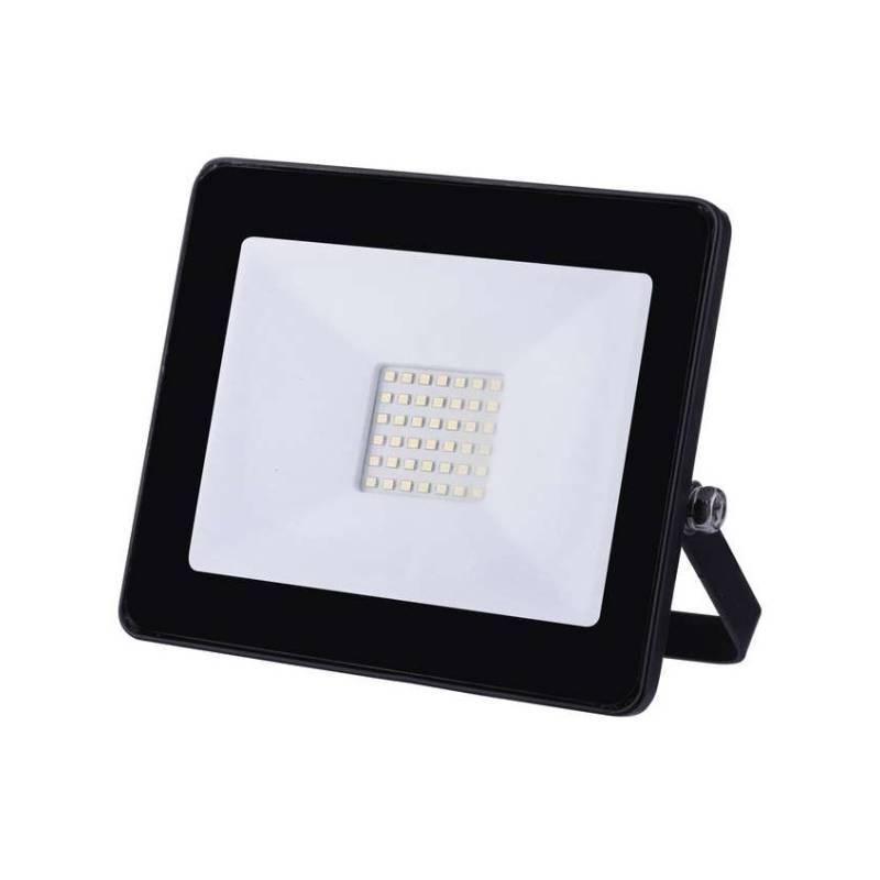 LED reflektor EMOS HOBBY SLIM, 30W, neutrální bílá, 2400lm (1531221031) čierny