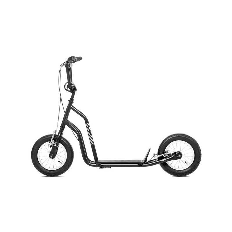 """Kolobežka Yedoo Basic Ox 12"""" čierna/strieborná + Reflexní sada 2 SportTeam (pásek, přívěsek, samolepky) - zelené v hodnote 2.80 € + Doprava zadarmo"""