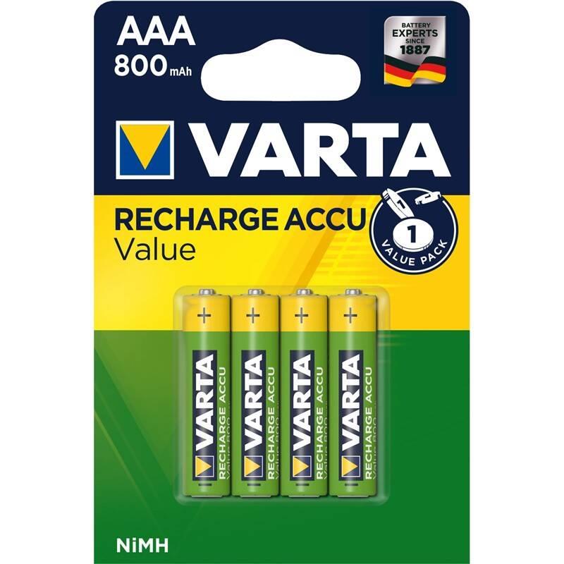 Batéria nabíjacie Varta Value, HR03, AAA, 800mAh, Ni-MH, blistr 4ks (56613101404)