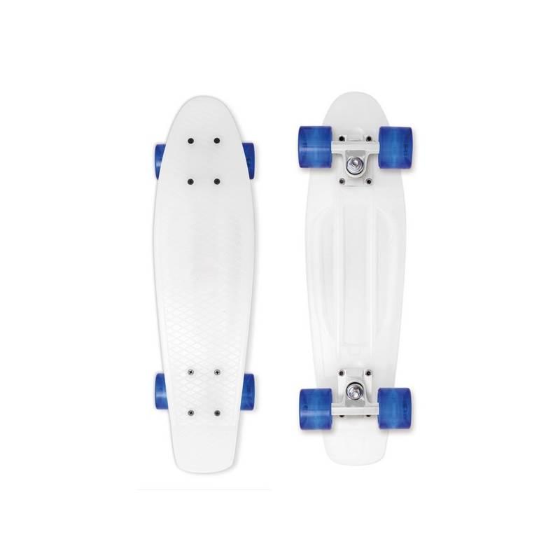 "Penny board Street Surfing Beach Board Milky 22,5"" x 6,3"" biely + Doprava zadarmo"