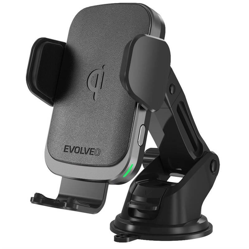Držiak na mobil Evolveo Chargee CarWL15 s bezdrátovým nabíjením (Chargee carWL15) čierny