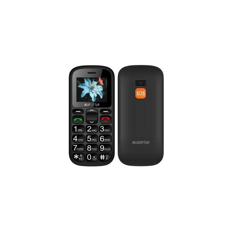 Mobilný telefón Aligator A321 Senior Dual SIM (A321GB) čierny/sivý
