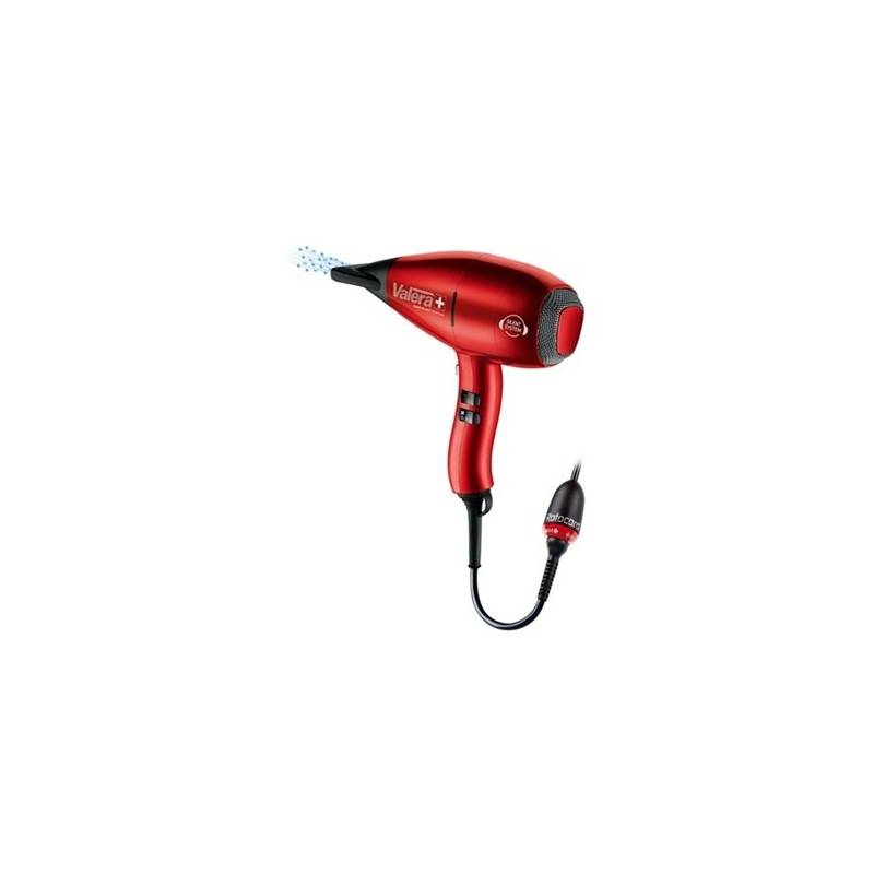 Fén Valera Swiss Silent 9500 Ionic Rotocord červený