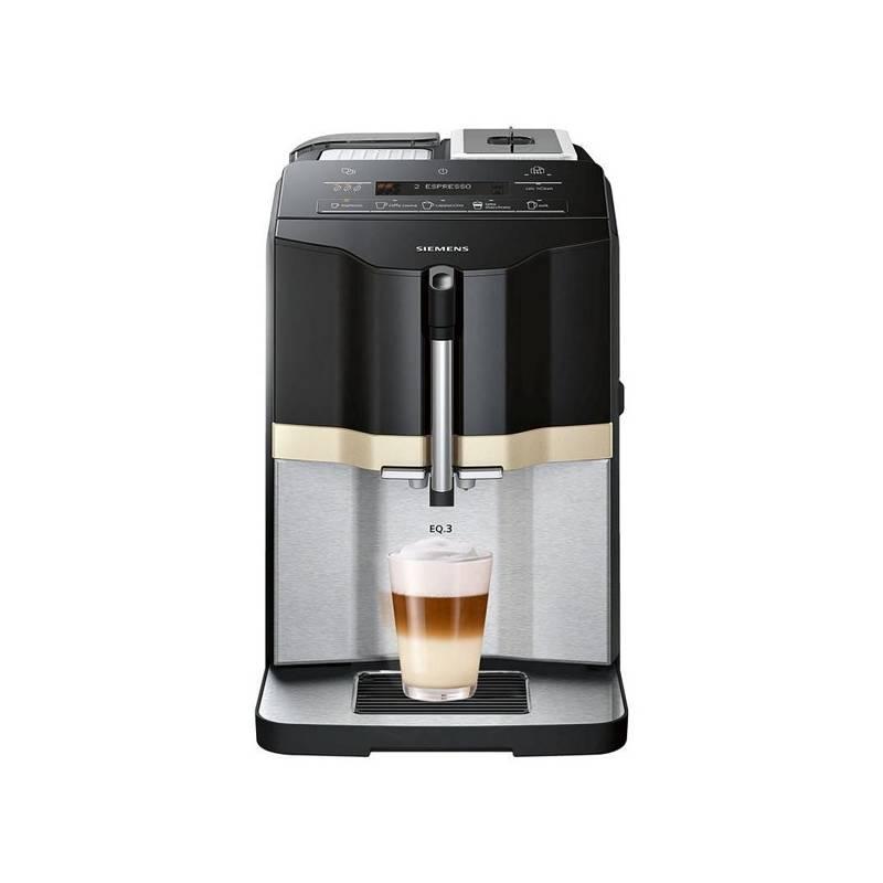 Espresso Siemens EQ.3 TI305206RW čierne/nerez + Doprava zadarmo