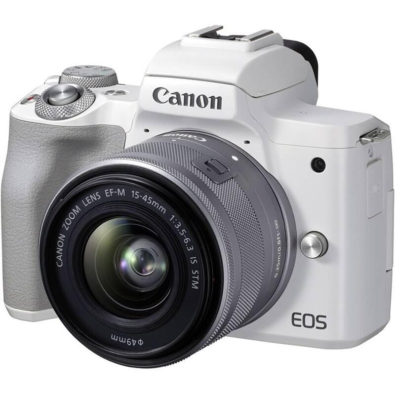 Digitálny fotoaparát Canon EOS M50 Mark II + EF-M 15-45 (4729C005) biely + Doprava zadarmo