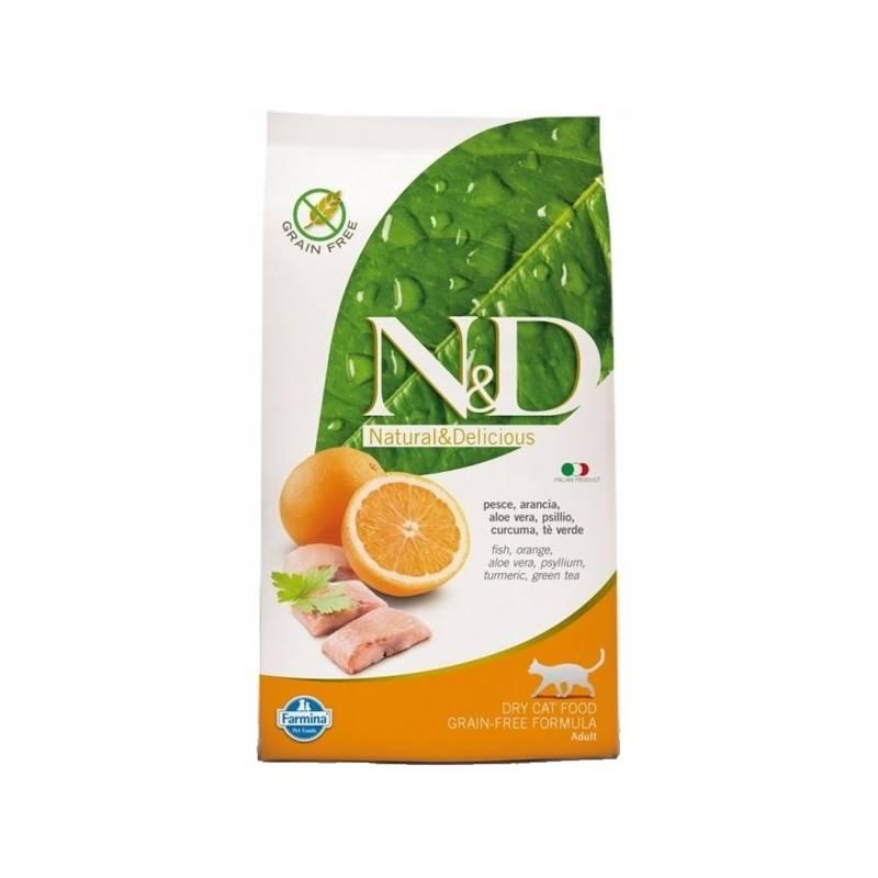 Granuly N&D Grain Free CAT Adult Fish & Orange 1,5 kg