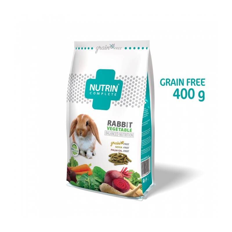 Krmivo Darwin's Nutrin Complete Vegetable Grain Free Králik 400g