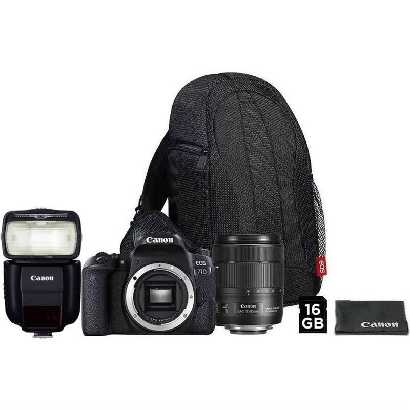 Set výrobkov Canon EOS 77D + 18-135 IS USM + VUK + blesk 430EX III-RT + Doprava zadarmo