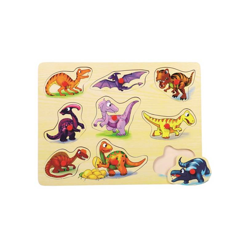 Puzzle Bino dřevěné Dinosauři