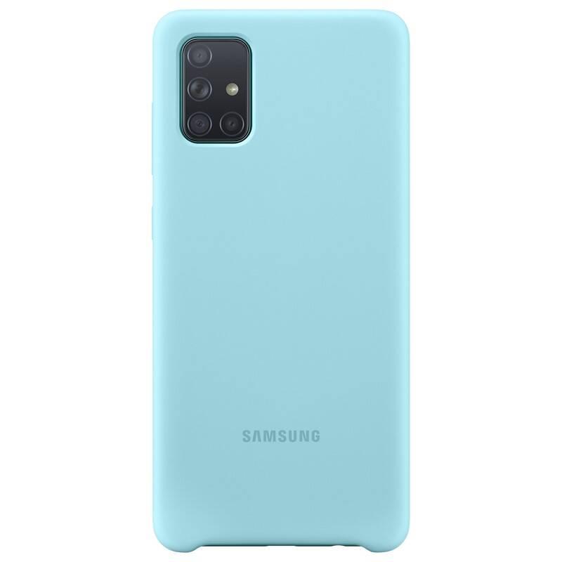Kryt na mobil Samsung Silicon Cover pro Galaxy A71 (EF-PA715TLEGEU) modrý