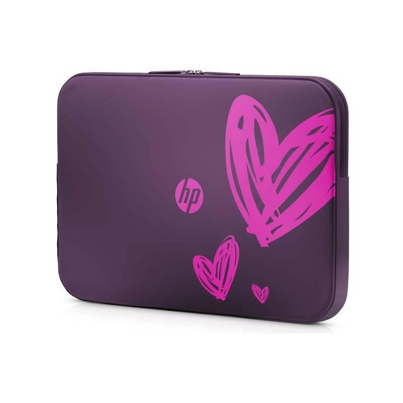 """Brašna na notebook HP Spectrum Hearts (dámská edice) 15,6"""" (1AT98AA#ABB) fialová"""
