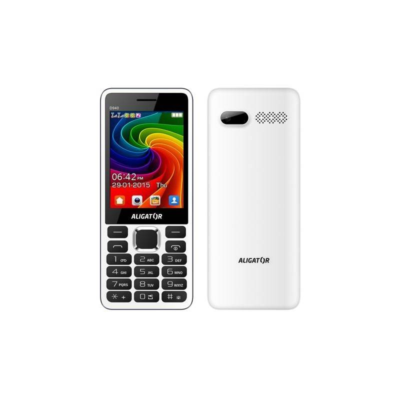 Mobilný telefón Aligator D940 Dual Sim (AD940WG) biely