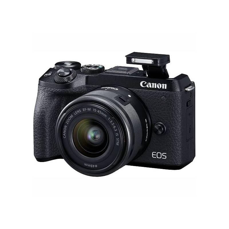 Digitálny fotoaparát Canon EOS M6 MARK II + EF-M 15-45 mm IS STM + EVF hľadáčik (3611C012) čierny