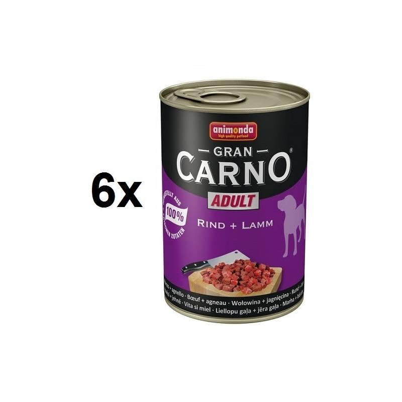 Konzerva Animonda Adult Gran Carno hovězí + jehně 6 x 400g