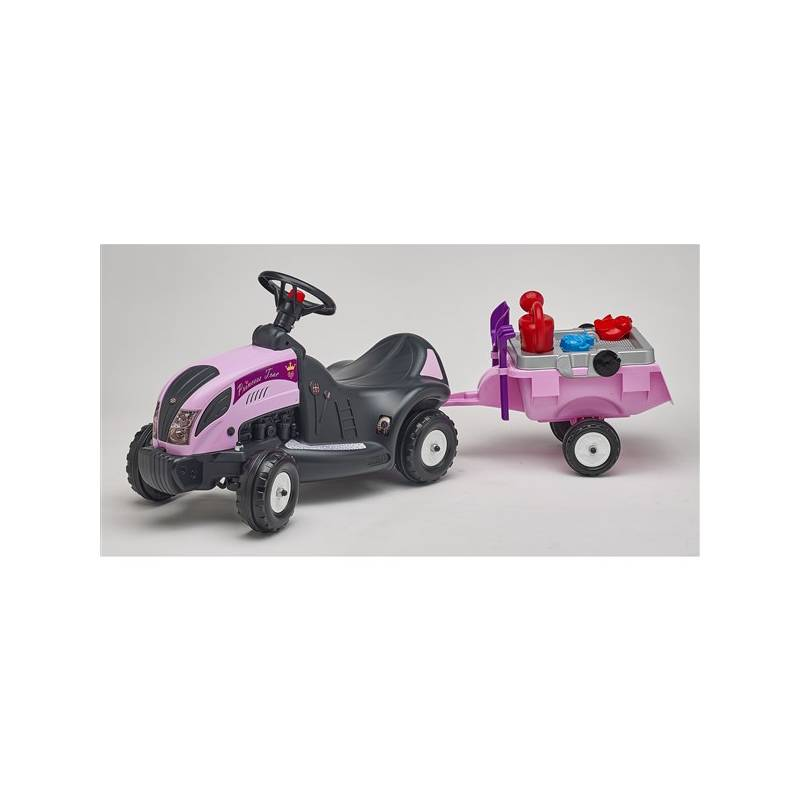 Odrážadlo plastové FALK - traktor Princes s volantem, valníkem a příslušenstvím plast