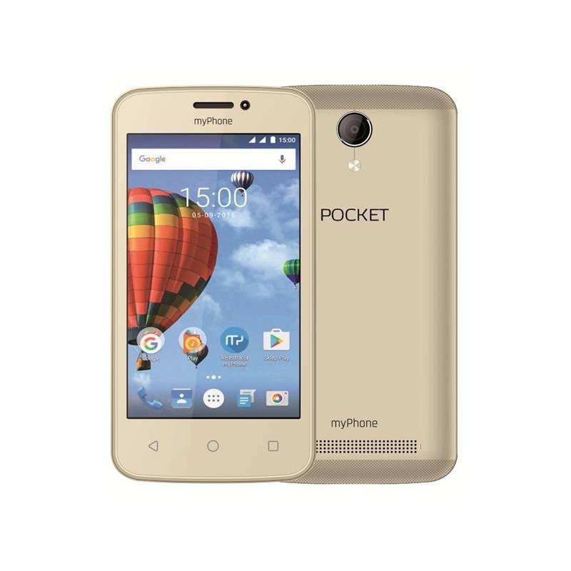 Mobilný telefón myPhone POCKET (TELMYAPOCKETGO) zlatý Software F-Secure SAFE, 3 zařízení / 6 měsíců (zdarma)