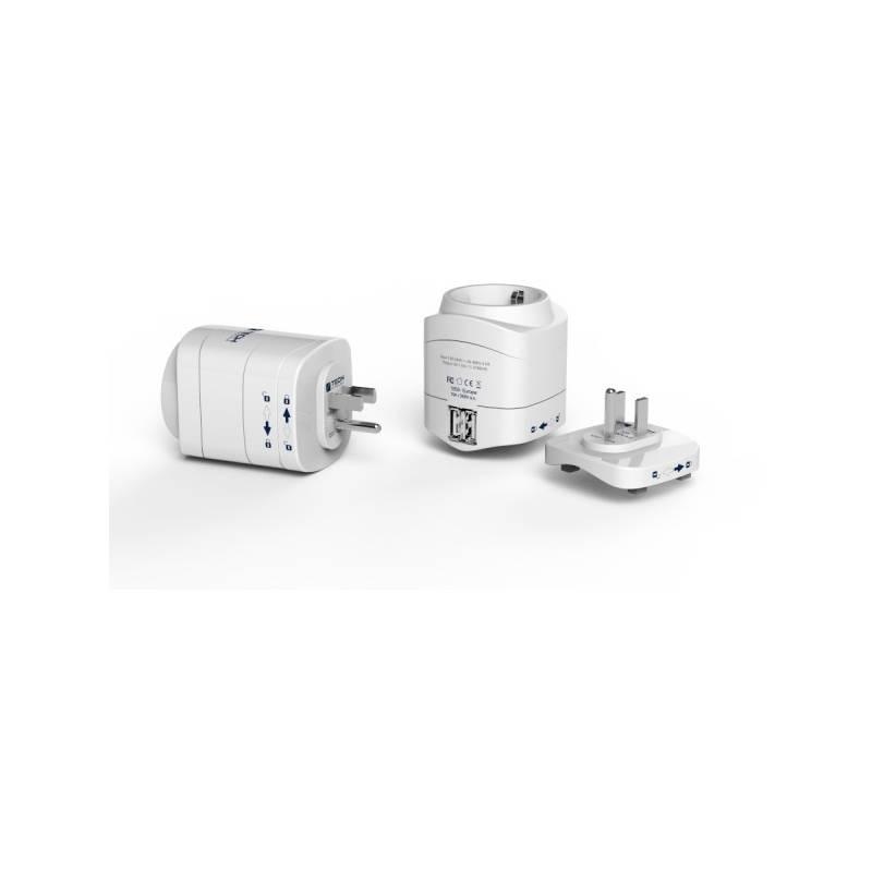 Cestovný adaptér Travel Blue TBU-945 pro použití v USA, + 2x USB nabíječka (336497)