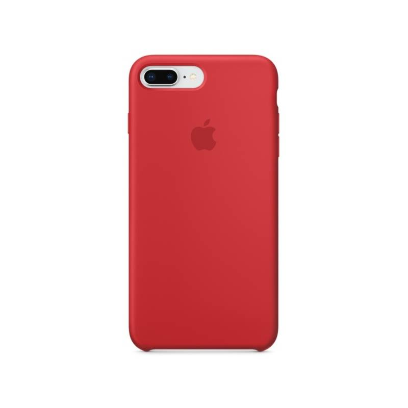Kryt na mobil Apple Silicone Case pro iPhone 8 Plus / 7 Plus (PRODUCT)RED (MQH12ZM/A) červený