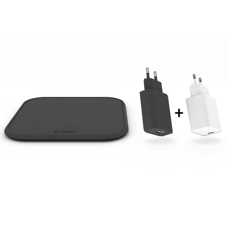 Bezdrôtová nabíjačka ZENS Starter Kit - Single Wireless 10W, QC 3.0 + USB-C PD 18 W adaptér (ZESC12BPD) čierna + Doprava zadarmo