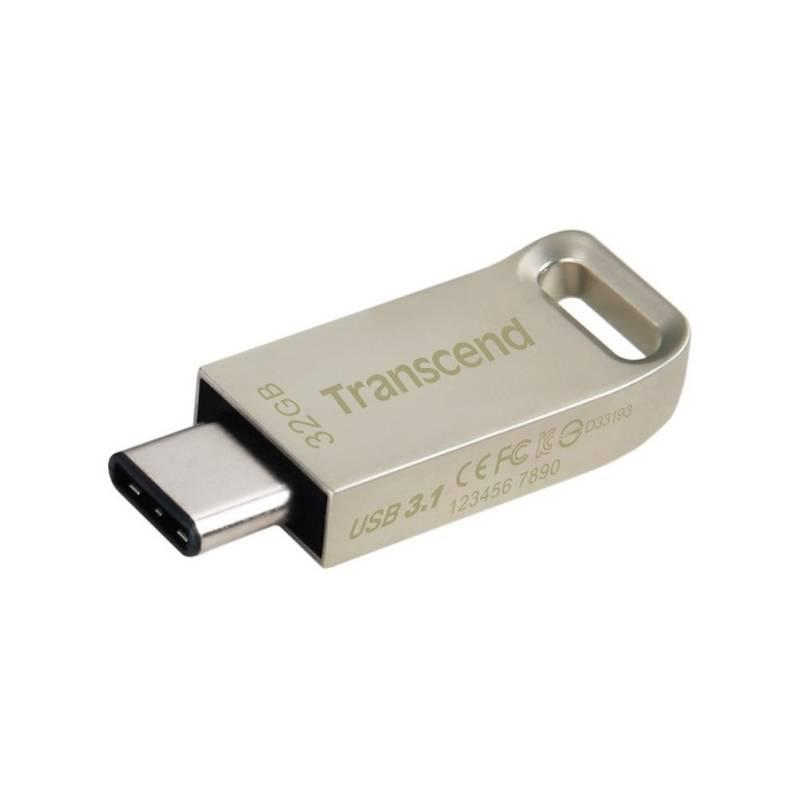 USB flash disk Transcend JetFlash 850S 32GB (TS32GJF850S) strieborný