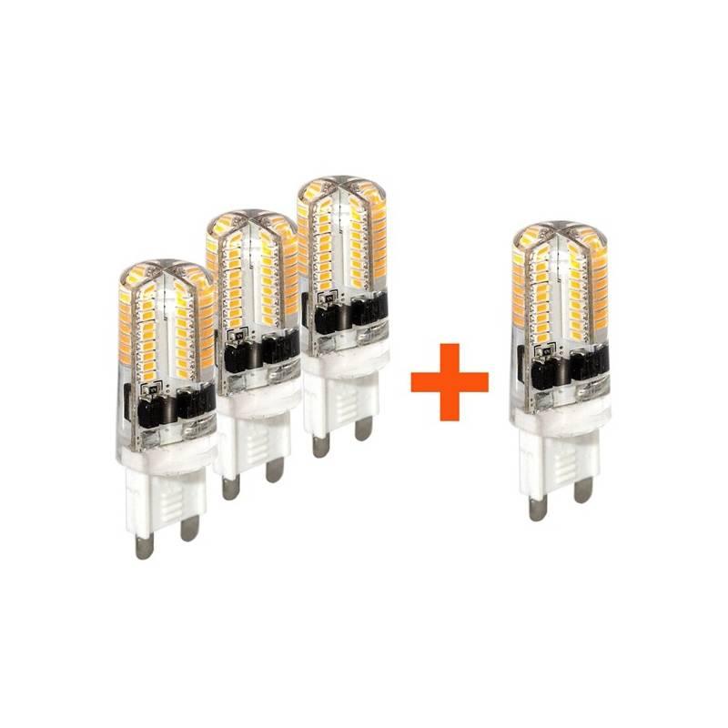 SADA 3 + 1 zdarma LED Žárovek Tesla bodová, 3W, G9, teplá bílá