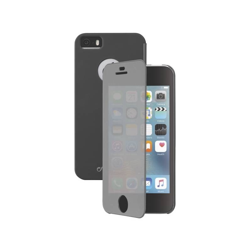 Puzdro na mobil flipové CellularLine Touch pro Apple iPhone 5/5s/SE (BOOKTOUCHIPH5K) čierne