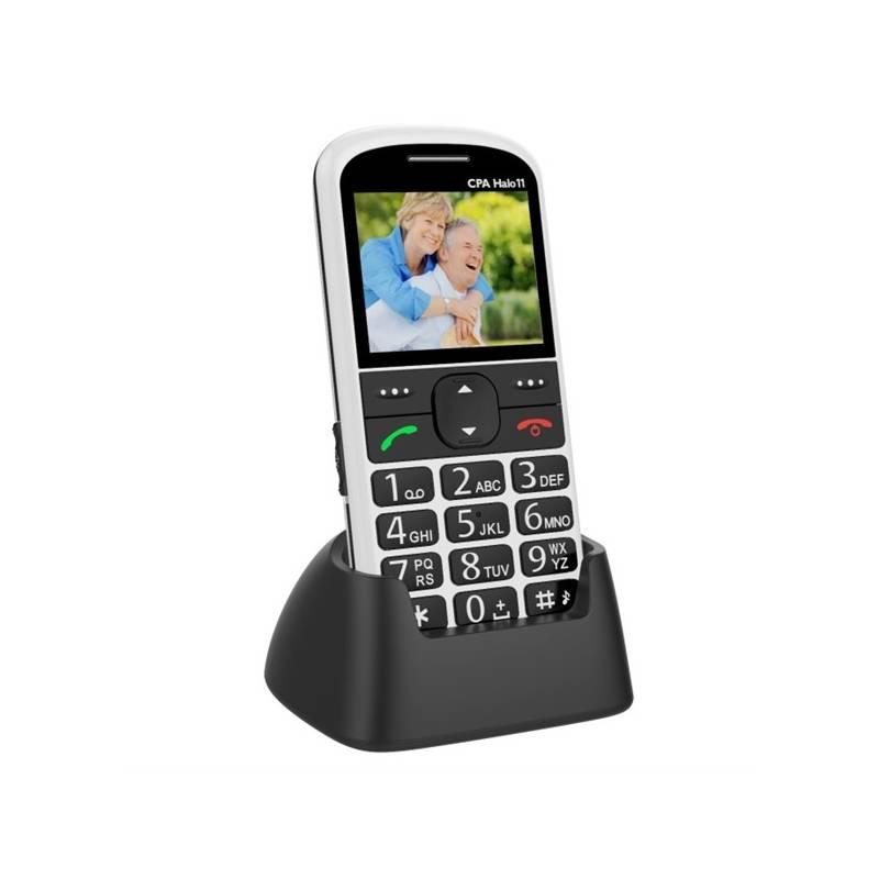 Mobilní telefon CPA Halo 11 Senior (TELMY1011WH) bílý