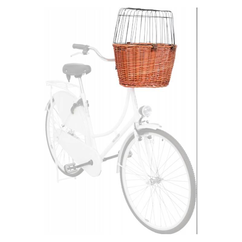 Prepravka na bicykel Trixie kôš prútený 44x48x33 cm hnedý