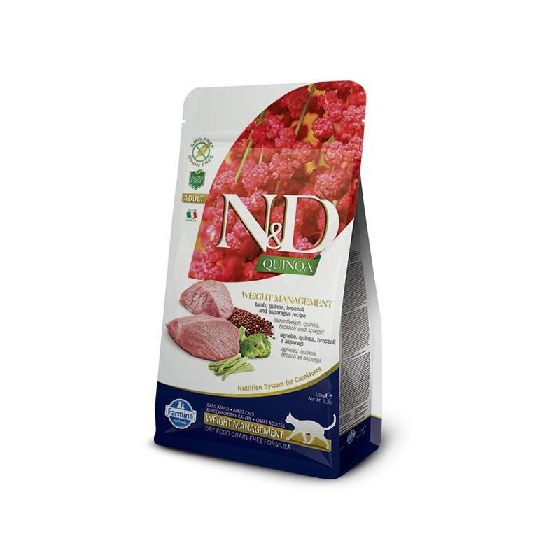 Granuly N&D Grain Free Quinoa CAT Weight Management Lamb & Broccoli 1,5 kg