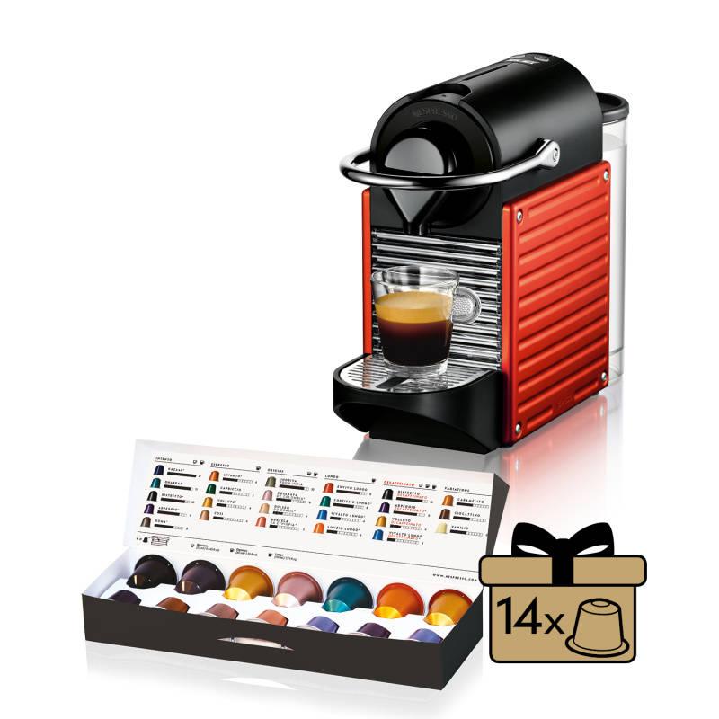 Espresso Krups Nespresso Pixie XN3006 čierne/červené