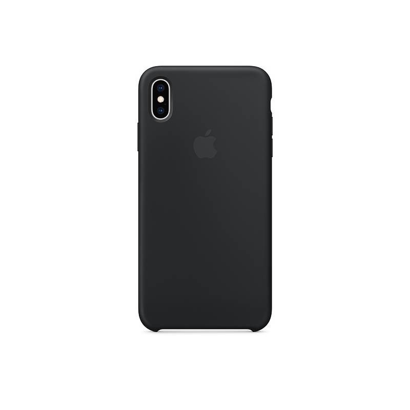 Kryt na mobil Apple Silicone Case pro iPhone Xs Max (MRWE2ZM/A) čierny