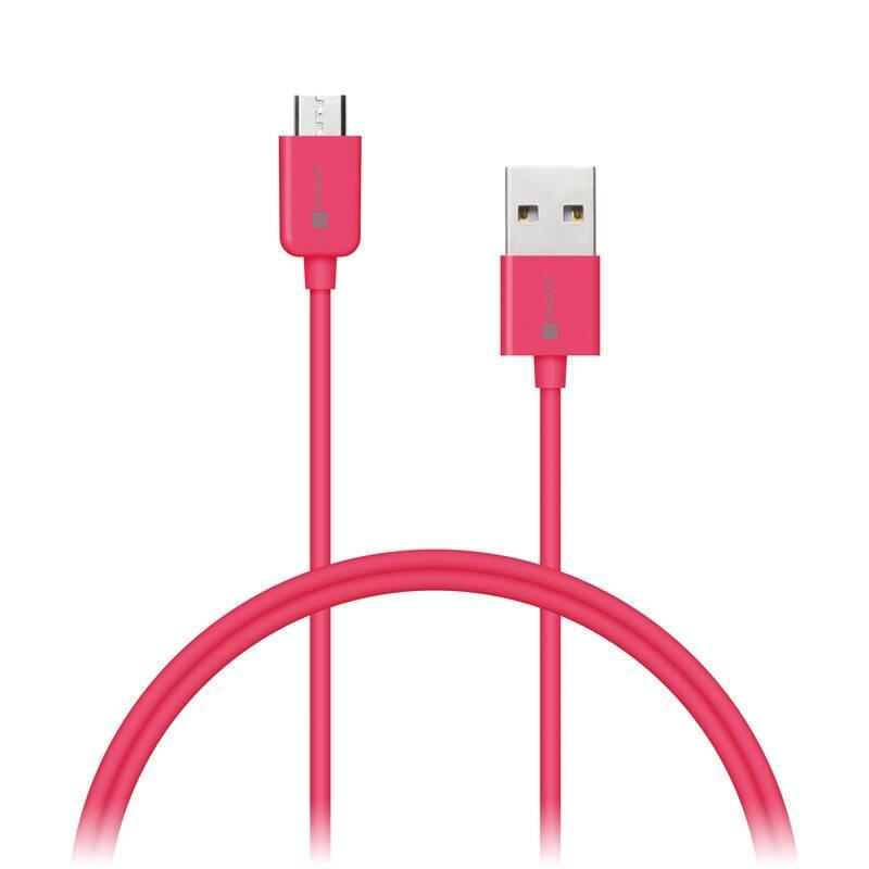 Kábel Connect IT Wirez USB/micro USB, 1m (CI-574) ružový