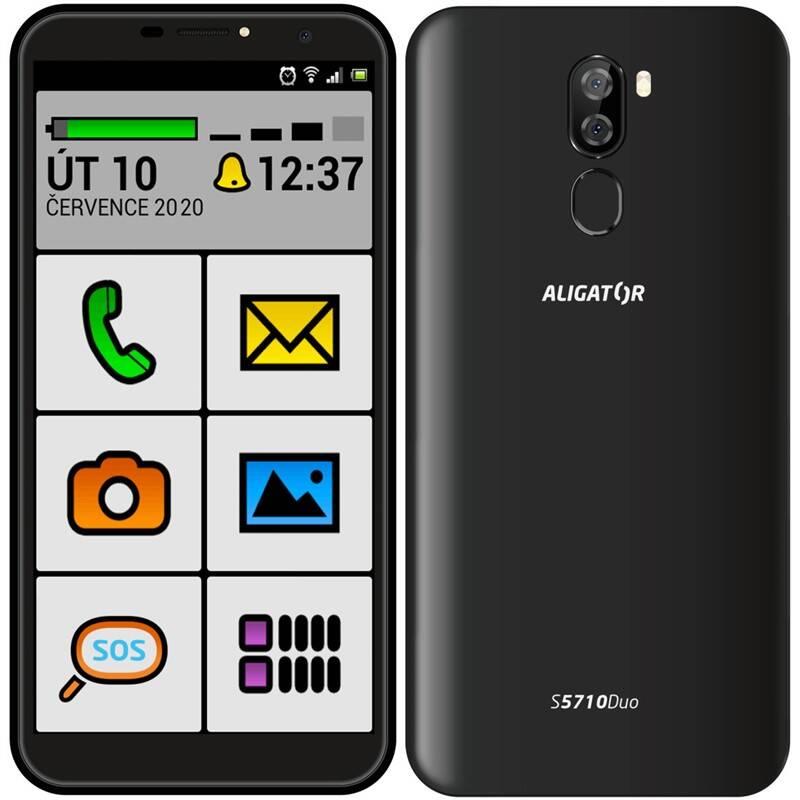 Mobilný telefón Aligator S5710 Senior (AS5710SENBK) čierny