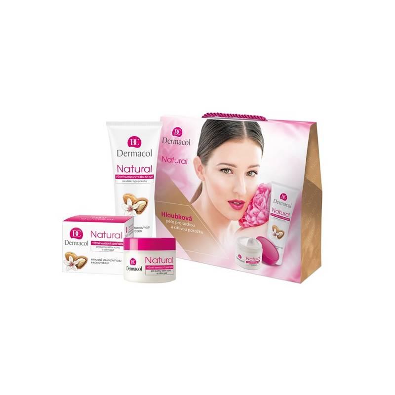 Dárkový balíček Dermacol Natural mandlová péče (denní hloubková péče na suchou pleť 50 ml + výživný mandlový krém na ruce a nehty 100 ml)