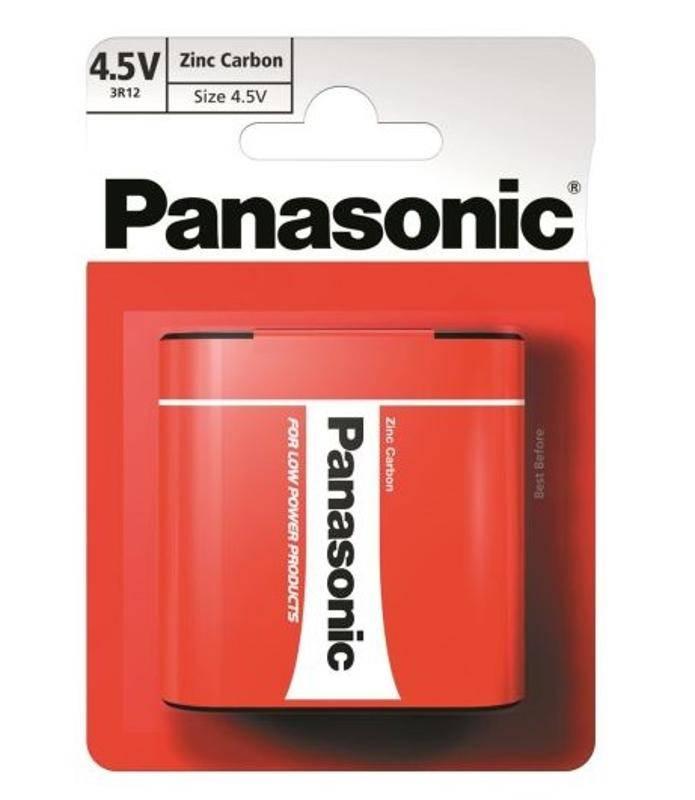 Batérie zinkovo-uhlíková Panasonic 4,5V, 3R12, blistr 1ks (3R12RZ/1BP)