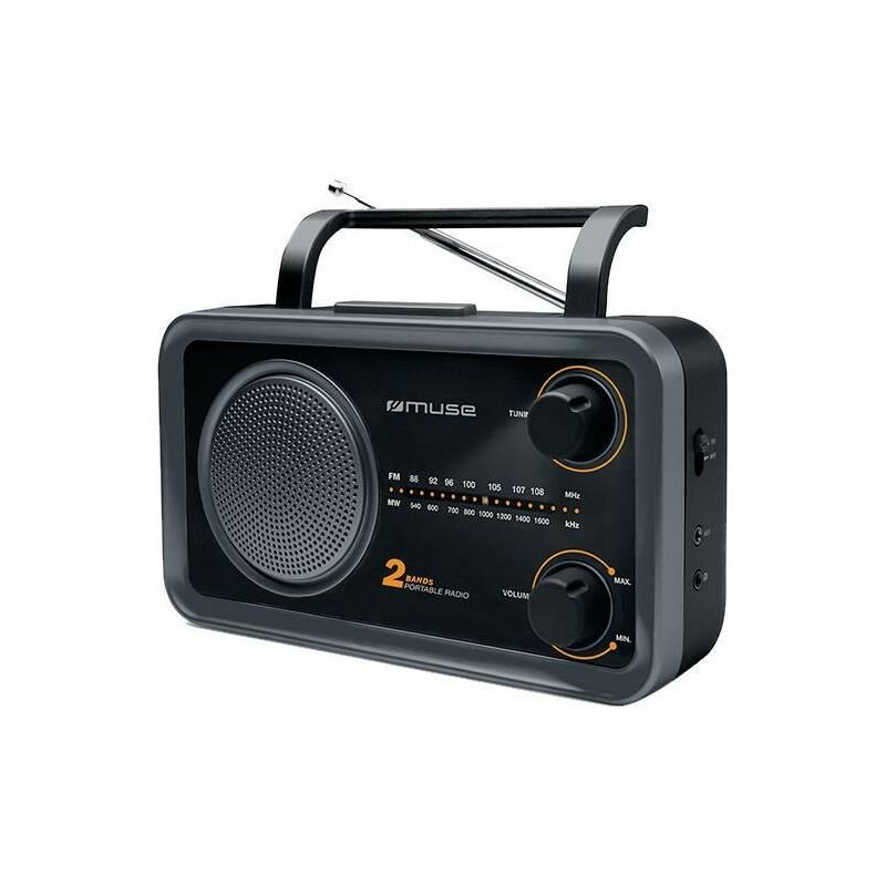 Radiopřijímač MUSE M-06DS černý