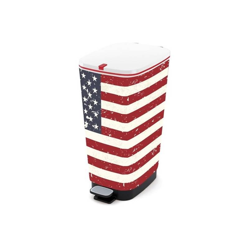 Odpadkový kôš KIS Chic Bin 50 l biela farba/červená farba/modrá farba