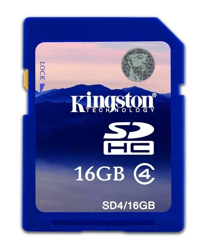 Pamäťová karta Kingston SDHC 16GB Class4 (SD4/16GB)