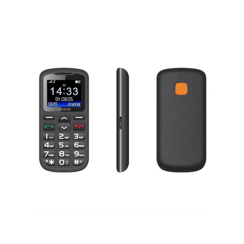 Mobilný telefón Aligator A431 Senior (A431BG) čierny/sivý