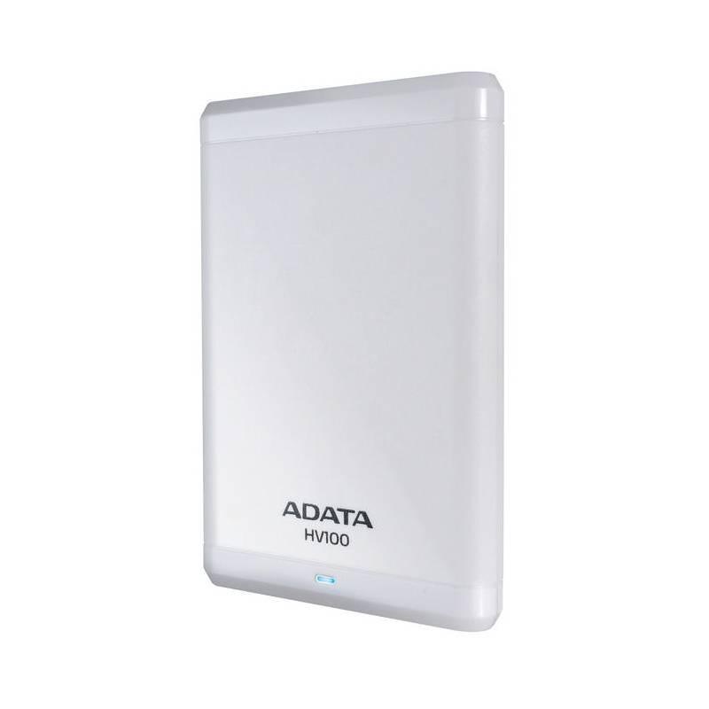 Externý pevný disk ADATA HV100 2TB (AHV100-2TU3-CWH) biely