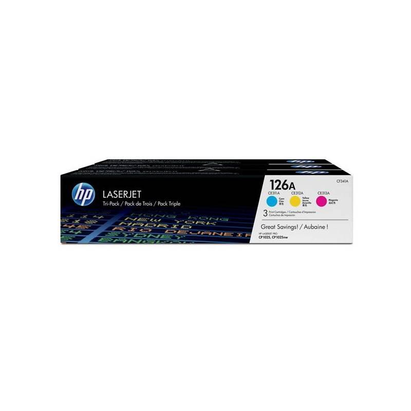 Toner HP 126A, 3x 1000 stran, CMY (CF341A)
