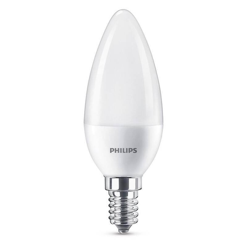 Žárovka LED Philips svíčka, 7W, E14, studená bílá (8718696702932)