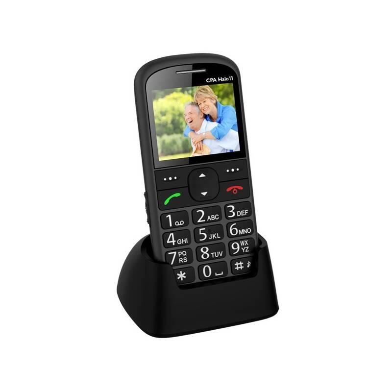 Mobilní telefon CPA Halo 11 Senior (TELMY1011GR) šedý