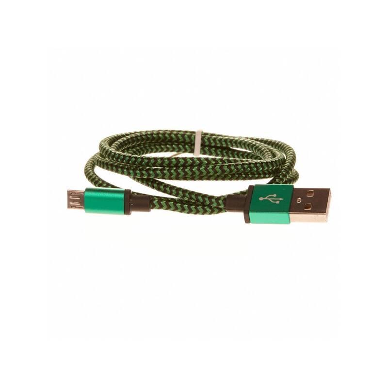 Kábel CellFish USB/micro USB, 1m (PLUSBKABELGREEN) zelený