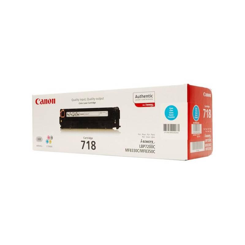 Toner Canon CRG-718C, 2900 stran (2661B002) modrý