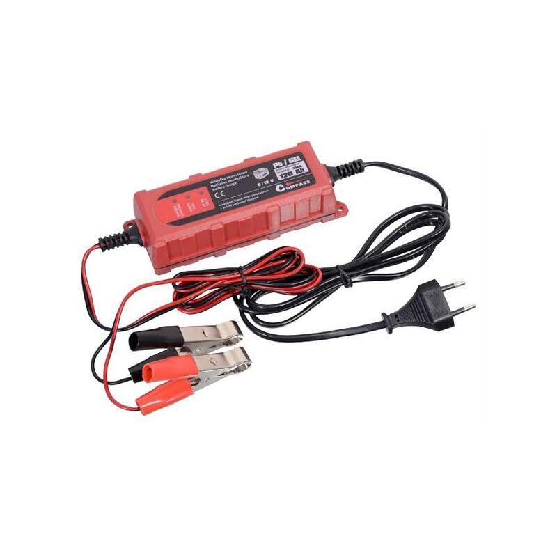 Nabíjačka autobatérií Compass mikroprocesor 1Amp 6/12V