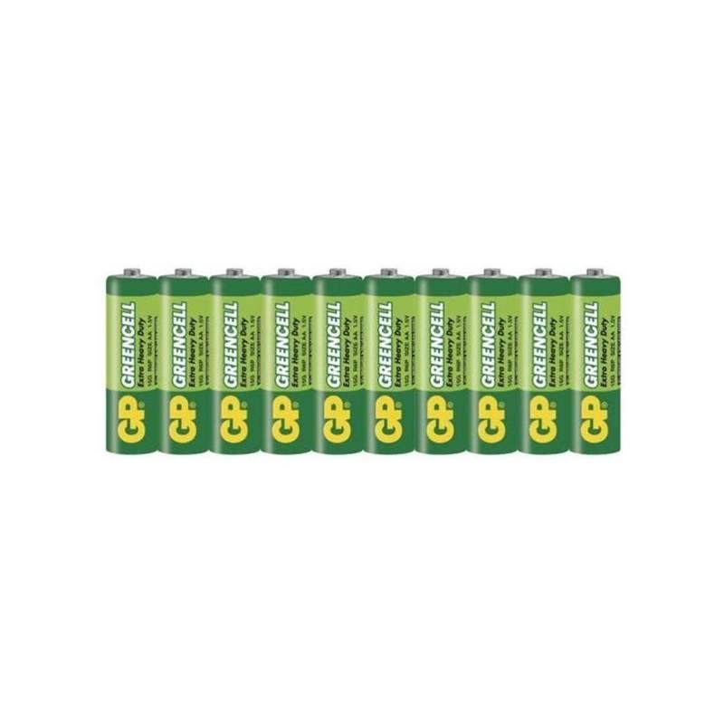 Baterie zinkochloridová GP Greencell AA, R06, fólie 10ks (1012209000)